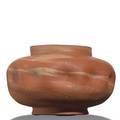 George ohr squat vessel bisquefired marbelized clay script signature 3 34 x 6