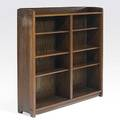 Gustav stickley unusual open bookcase with adjustable shelves no 718 12 burnedin mark and paper label 56 x 54 x 13