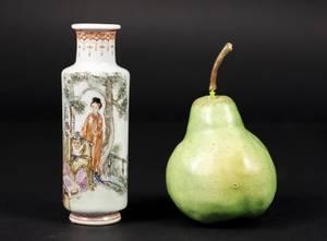 Oriental Porcelain Figural Bud Vase