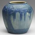 Francis ford newcomb college live oak tree and full moon vase late 1920s 3 glaze line from manufacturing near base stamped ncfffksy4 6 x 6