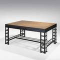 Josef urban thonet oak and enameled wood dining table early 1900s unmarked closed 30 x 60 x 42 open 96