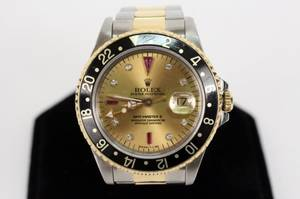 Rolex GMTMaster II Watch wDiamond and Rubies