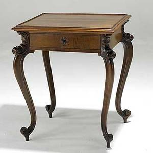 French victorian hall table walnut one drawer late 19th c 31 x 26 12 x 23 12