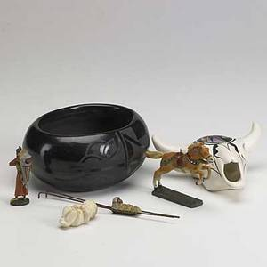 Tourist pottery group lot forty  pieces mostly native american or southwestern tallest 18