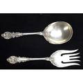 Wallace solid berry spoon and fork in the sir christopher pattern unmonogrammed 9 14 825 ot unmonogramed