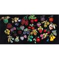 Collection of vintage fruit brooches twentynine pieces with colorful rhinestones or glass marks include jj coro craft loran pell austria warner and art