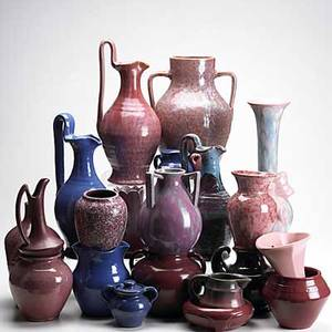 Art pottery grouping twentytwo pieces include fulper pitcher north state and other north carolina pottery and several pieces of later niloak tallest 14