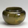Kataro shirayamadani attr rookwood early standard glaze light vase carved with turtles 1897 uncrazed flame mark 5 x 7