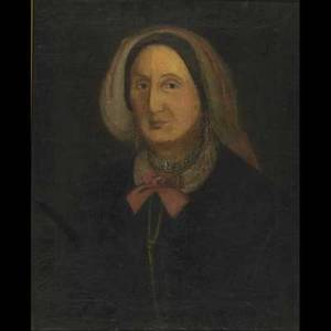 Two 19th c portraits of women oil on canvas of a peasant woman framed 20 x 16 oil on canvas of a lady framed oval 20 x 16