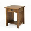 Stickley reproduction contemporary nightstand with spindled sides 26 x 21 x 18 12