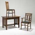 Arts  crafts single drawer library table armchair and similar sidechair table 29 14 x 42 x 26