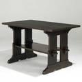 L  jg stickley trestle table with lower shelf l  jg decal 29 12 x 48 x 29 12