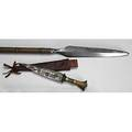 Tribal weapons philippino spear and west african dagger both 20th c longer 72