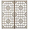 Carved asian window panel lattice and cloud design 57 12 x 25 14