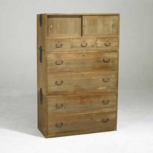 Asian chest cabinet section top over seven drawers 20th c possibly korean 56 x 36 x 15