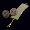 Watch chain and gold cufflinks allin 14k yg cufflinks monogrammed fp 50 gs