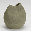 James lovera bulbous vase with pinchedin neck signed lovera 5 34 x 5