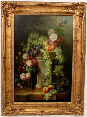 Fruit and Floral Still Life Painting