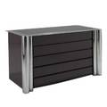 Italian modern lacquered dresser with chromed steel accents 29 12 x 53 x 21 34
