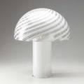 Fabbian italian glass mushroom lamp marked f fabbian made in italy 21 x 17 12