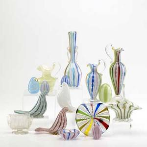 Realized Price For Murano Glass Sixteen Pieces With