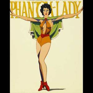 Mel ramos american b 1935 lithograph in color phantom lady 1990 signed and numbered 30 x 24