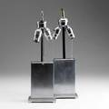 Chase pair of console lamps designed by walter von nessen ca 1936 16 12