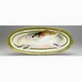 Limoges three porcelain fish platters early 20th c marked limoges coronet largest 24 34