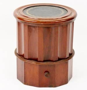 19th C Georgian Mahogany Columnar Chamber Pot