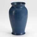 Marblehead cylindrical vase in blue glaze early 20th c marked 9 12