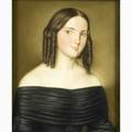 19th c pastel portrait fine pastel on paper portrait of a young woman in a black dress framed 12 34 x 10 12 provenance private collection los angeles california