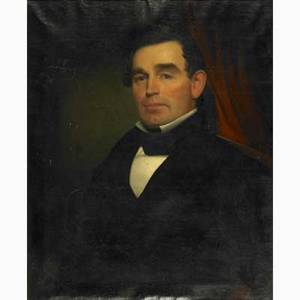 19th c american portrait oil on canvas portrait of a gentleman framed 30 x 25 provenance private collection new jersey