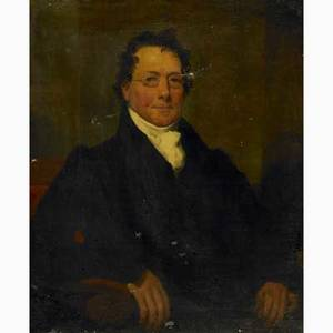 19th c american portrait oil on canvas portrait of a gentleman framed 34 x 27 provenance private collection new jersey