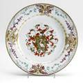 Chinese export armorial porcelain designed by christian precht for the grill family ca 1750 unmarked largest 10 14