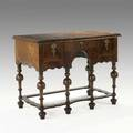 English william and mary lowboy mahogany banded inlay 18th c replaced top 32 x 42 x 23 12