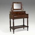 Empire dressing table mahogany mirrored top ca 18301840 62 x 36 12 x 19