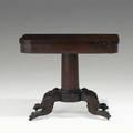 Empire card table mahogany ca 1830 30 12 x 36 x 18
