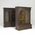 Pair of victorian bookcases twodoors in walnut ca 1870 61 x 47 12 x 17 12