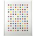 Damien hirst british b 1965 flumequine 108 spots in 108 colors 2007 aquatint spot etching on paper framed signed and numbered 5775 55 x 42 12 sheet publisher paragon press london