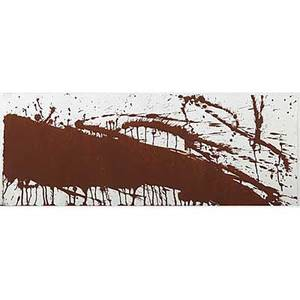 Hermann nitsch austrian b 1938 untitled 1984 mixed media on paper signed and dated 10 x 26 sheet provenance private collection los angeles