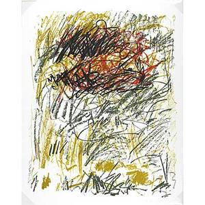 Joan mitchell american 19261992 flower iii from the bedford series 1981 lithograph in colors framed signed and numbered 270 42 12 x x 32 12 sheet publisher tyler graphics ltd new