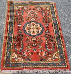Hand Woven Persian Lilihan Throw Rug
