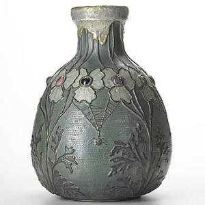 Riessner stellmacher  kessel large amphora ceramic vase with gresbijou see condition report stamped amphora 3730 d 16 12 x 11 12