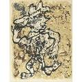 Jean dubuffet french 19011985 fougere au chapeau 1953 lithograph in colors framed signed dated titled and numbered 4760 21 38 x 16 12 sight literature uebel 377 provenance priv
