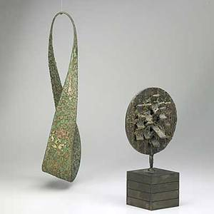 Raymond granville barger american 19062001 two works of art untitled bronze signed 19 long sunburst 1975 bronze signed and dated 12 12 high provenance private collection pennsylvan