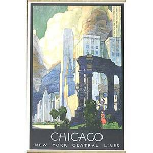 Leslie darrell ragan american 18971972 chicago new york central lines ca 1935 offset lithograph in colors framed 26 x 17 sight publisher latham litho  ptg co long island city pro
