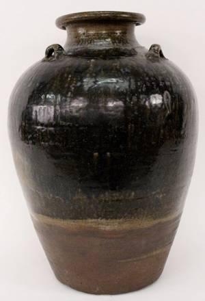Chinese Large Henan Black Glazed Jar