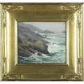 Frank alfred bicknell american 18661943 untitled oil on artist board in a carrigrohane frame signed 8 x 10 provenance private collection