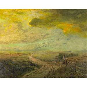 Franklin benjamin dehaven american 18561934 untitled 1901 oil on canvas framed signed and dated 24 x 30 provenance private collection new jersey