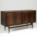 Hans wegner worts mobler rosewood credenza with white oak interior unmarked 34 14 x 60 x 19 12